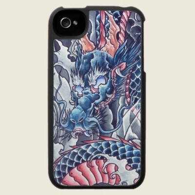 Cool Oriental Dragon tattoo iPhone 4 case
