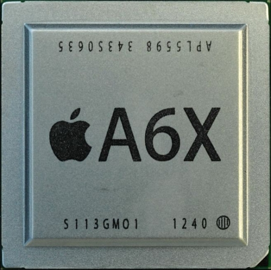 Apple's A6X custom system-on-a-chip (SoC) processor