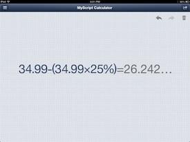 MyScript Calulator 1