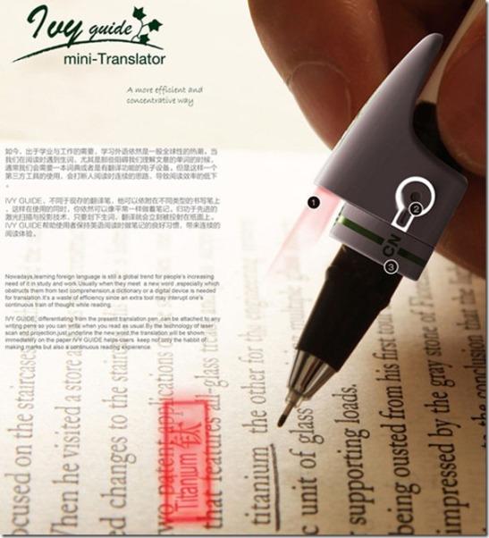 Future technology Concept pen with interpreter